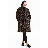 H&M H&M+ Wzorzysty płaszcz 0406207001 Panterka