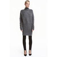 H&M Sweter oversize 0409401002 Ciemnoszary melanż