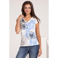 Monnari T-shirt z kwiatowym nadrukiem TSHIMP0-16J-TSH4420-KM00D004-R0S