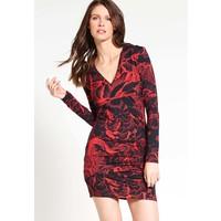 Just Cavalli Sukienka z dżerseju red JU621C05N