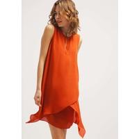 Sisley Sukienka letnia orange 7SI21C05J