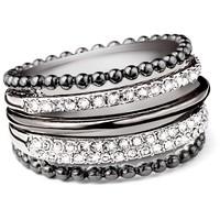 Tchibo Pierścionek, pozłacany złotem różowym, wysadzany kryształami Swarovski® 400103886