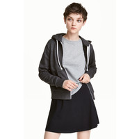 H&M Bluza z kapturem 0447401001 Dark grey marl