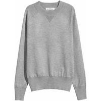 H&M Sweter z cienkiej dzianiny 0470955004 Szary melanż