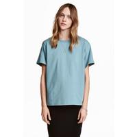 H&M Dżersejowy T-shirt 0456181003 Turkusowy