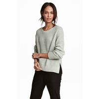H&M Sweter 0458097004 Miętowozielony