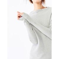 Mohito Sweter oversize z prążkowanej dzianiny QV092-09X
