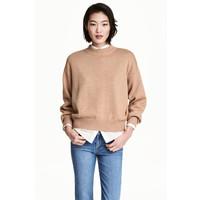 H&M Sweter 0447112004 Beżowy melanż