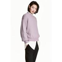 H&M Sweter 0447112001 Jasnofioletowy melanż