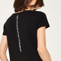 Reserved T-shirt z nadrukiem QF215-99X