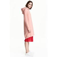 H&M Dresowa sukienka z kapturem 0485045008 Szaroróżowy
