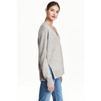 H&M Kaszmirowy sweter 0462560003 Szary melanż