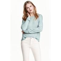 H&M Cienki sweter 0479555010 Jasnoturkusowy