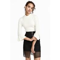 H&M Cienki sweter 0459710003 Biały