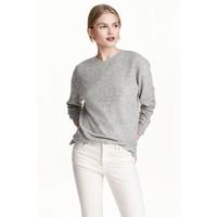 H&M Cienki sweter 0491073002 Szary melanż
