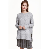H&M Sweter oversize 0419463002 Szary
