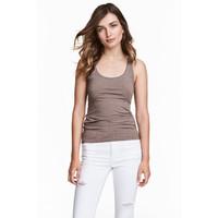 H&M Dżersejowa koszulka 0355307042 Brązowoszary
