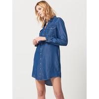 Mohito Koszulowa sukienka z dżinsu QW574-55J