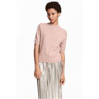 H&M Kaszmirowy sweter 0456031001 Pudroworóżowy