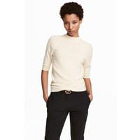 H&M Kaszmirowy sweter 0456031001 Naturalna biel