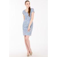 Monnari Letnia sukienka w listki SUKPOL0-17W-DRE0430-KM13D601-R36
