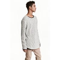 H&M Sweter o luźnym splocie 0461886002 Szary melanż
