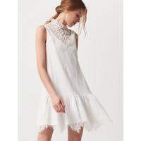 Mohito Koronkowa sukienka z falbaną AFTER HOURS QU669-01X