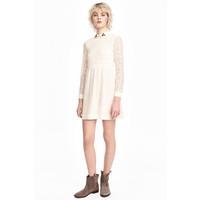 H&M Koronkowa sukienka 0471424003 Naturalna biel