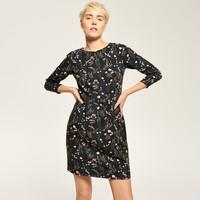 Reserved Czarna sukienka w kwiaty RK730-MLC