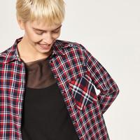 Reserved Długa koszula w kratę QJ071-33X