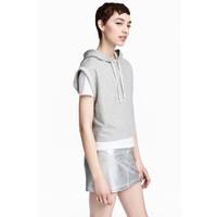H&M Spódnica dżinsowa 0489545003 Srebrny
