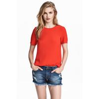 H&M Top z krótkim rękawem 0444261001 Czerwony