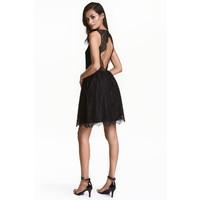 H&M Koronkowa sukienka 0467237001 Czarny