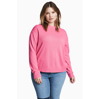 H&M H&M+ Cienki sweter 0445211003 Różowy