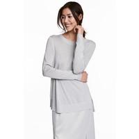 H&M Cienki sweter 0468535004 Srebrny