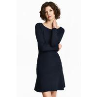 H&M Cienki sweter 0468543001 Ciemnoniebieski