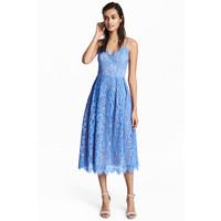 H&M Koronkowa sukienka 0497680001 Niebieski
