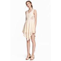 H&M Koronkowa sukienka 0530863003 Naturalna biel