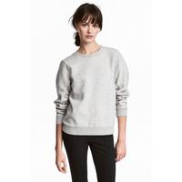 H&M Bluza z marszczonymi rękawami 0506638001 Szary melanż