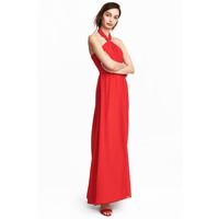 H&M Długa sukienka 0494677001 Czerwony