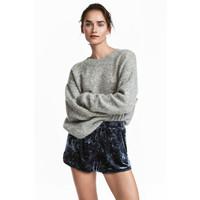 H&M Sweter o luźnym splocie 0519863007 Szary melanż