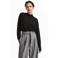 H&M Sweter z wełny merynosowej 0522347001 Czarny