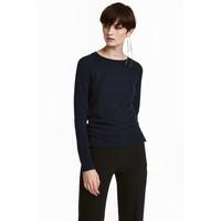 H&M Sweter z domieszką wełny 0515221002 Ciemnoniebieski