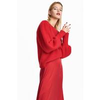 H&M Sweter z domieszką moheru 0534220001 Czerwony