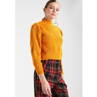 Topshop LATTICE BACK FUNNEL Sweter mustard TP721I0DO