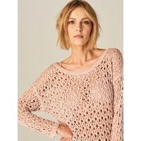 Mohito Długi ażurowy sweter TP179-39X
