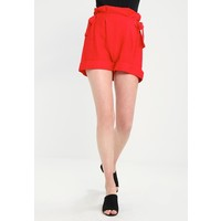 Lost Ink HIGH WAIST SHORT WITH TIE DETAIL Szorty red L0U21S00C