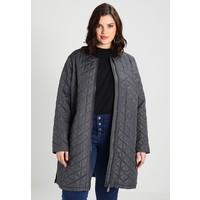 ADIA QUILT OUTDOOR JACKET LONG ROUND NECK Płaszcz wełniany /Płaszcz klasyczny dark iron A0C21U000