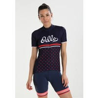 ODLO T-shirt z nadrukiem diving navy/fiery red/retro OD141D030