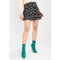 Topshop SHIRRED TIERED SPOT Spódnica trapezowa black TP721B0CD